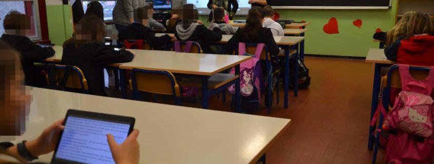 lavoro in classe con i tablet
