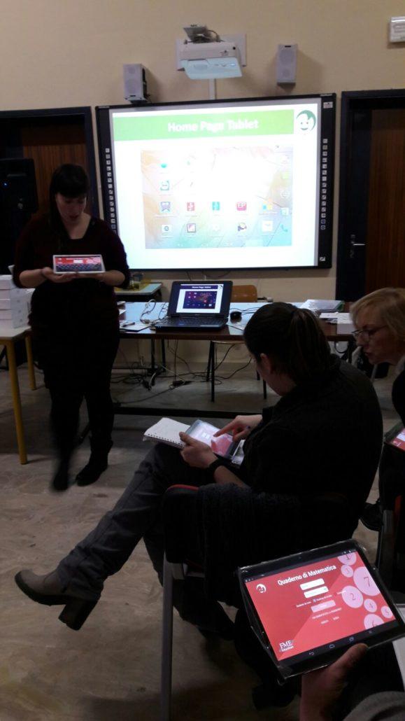 IC Castell'Arcquato: Docenti al lavoro con i tablet di MyEdu School