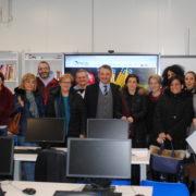 Scuole di Amatrice: l'intero corpo docenti, con Sergio Magrin, di FME Education, al termine dei lavori