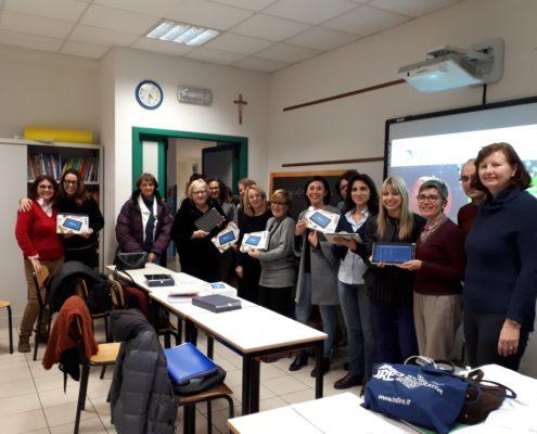 MyEdu e i docenti dell'IC Don Toniatti di Fossalta di Portogruaro dopo il primo seminario di formazione