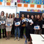 MyEdu - le docenti dell'IC Fossò al termine del seminario di formazione con i tablet MyEdu