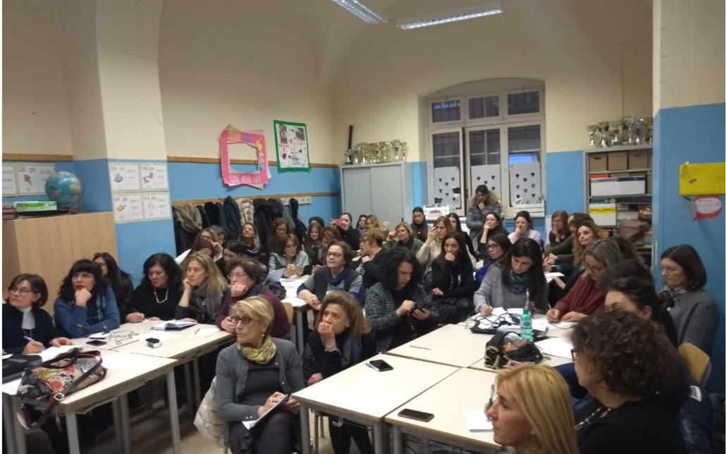 MyEdu all'IC Umberto I di Bari: i docenti durante il seminario di formazione